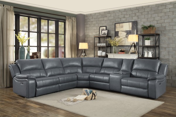 Leather Sectional.