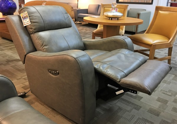 leather chair power recliner